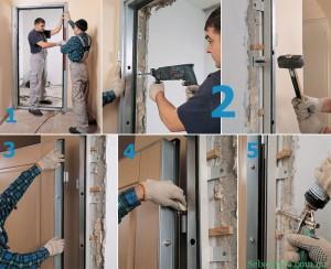 самостоятельная установка металлических дверей