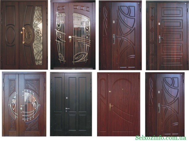 Входные двойные двери