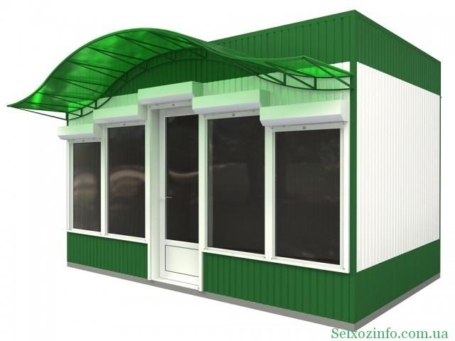 Изготовление торговых павильонов из сэндвич-панелей