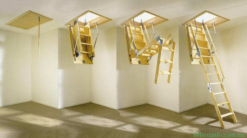 Лестницы в доме на чердак