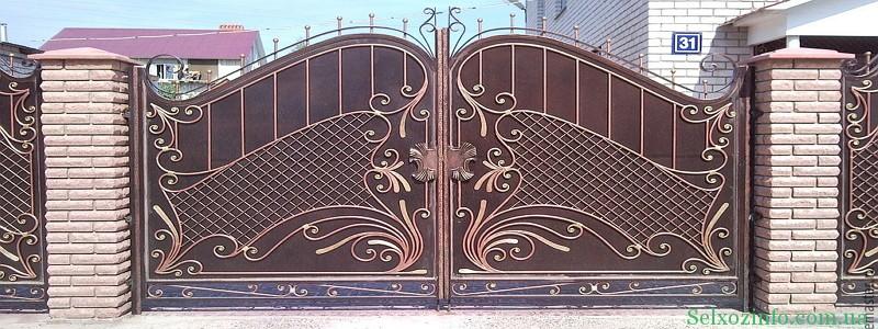 Кованные ворота - престиж вашего дома