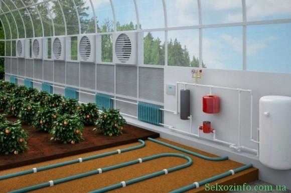 Водяная система отопления теплиц