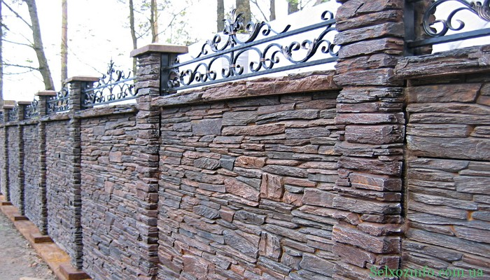 Декоратиний паркан із каменю