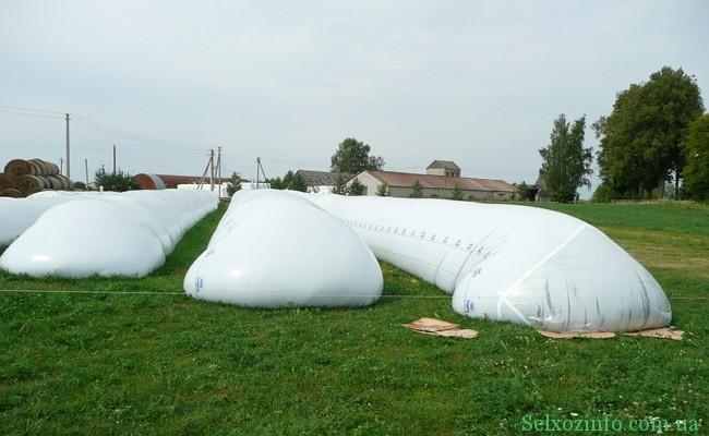 Хранение зерна в полимерных в рукавах